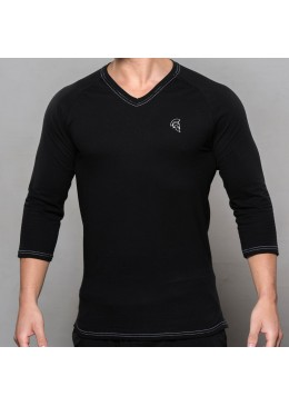 SHIRT ¾ LONG SLEEVE BLACK