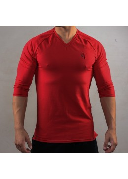 SHIRT ¾ LONG SLEEVE RED